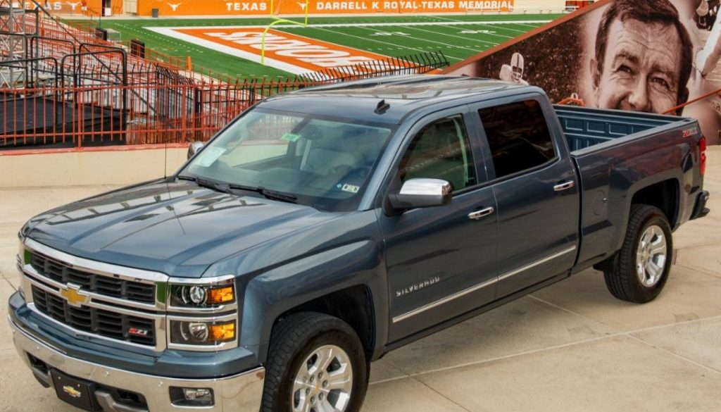 Chevrolet Silverado Signs with University of Texas Longhorns. © Copyright General Motors