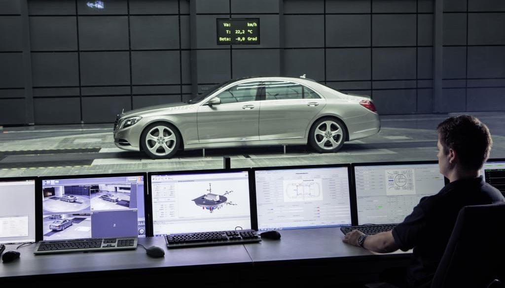 Aeroacoustics wind tunnel control room. © Copyright Daimler