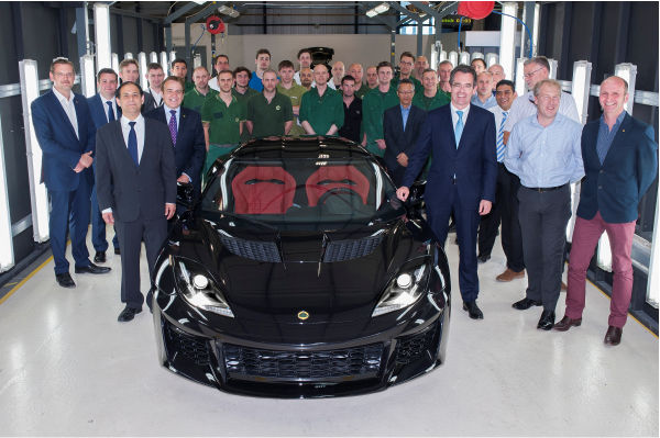 First Lotus Evora 400 drives off the assembly line at Hethel © Group Lotus PLC