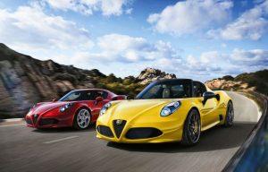 European premiere Alfa Romeo 4C Spider © Fiat Chrysler Automobiles N.V.