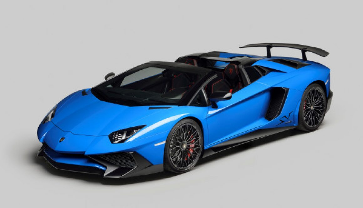 Lamborghini Aventador SV Roadster 3/4 Front Open © Automobili Lamborghini S.p.A. All rights reserved