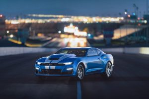 The 2019 COPO Camaro's available 50th Anniversary Special Edition package marks a half-century of special-order high-performance from Chevrolet. Copyright Chevrolet