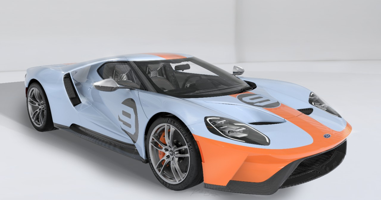 2019 Ford GT Heritage Edition Copyright Ford
